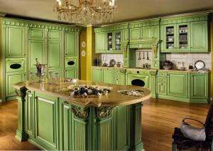 кухни-зеленого-цвета-Megaros